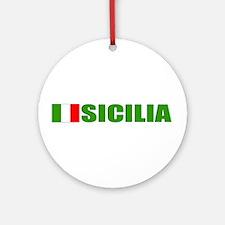 Sicilia, Italia Ornament (Round)