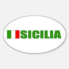 Sicilia, Italia Oval Decal