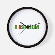 Sicilia, Italia Wall Clock