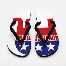 North Carolina Republican Elephant Flip Flops