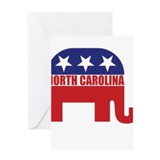 North Carolina Republican Elephant Greeting Cards