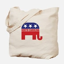 North Carolina Republican Elephant Tote Bag