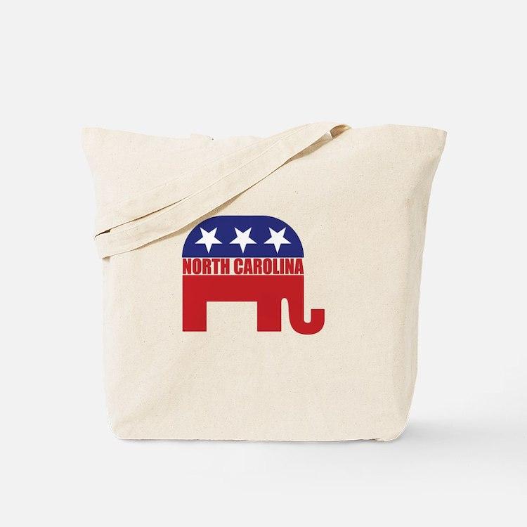 North Carolina Republican Elephant Tote Bag