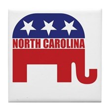 North Carolina Republican Elephant Tile Coaster