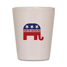 North Carolina Republican Elephant Shot Glass