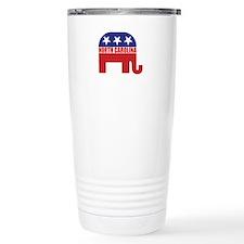 North Carolina Republican Elephant Travel Mug