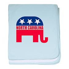 North Carolina Republican Elephant baby blanket