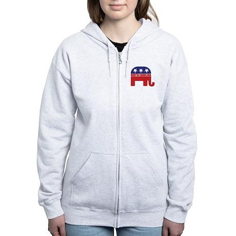 North Carolina Republican Elephant Zip Hoodie