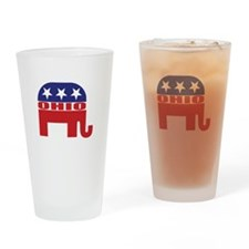 Ohio Republican Elephant Drinking Glass