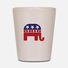 Ohio Republican Elephant Shot Glass