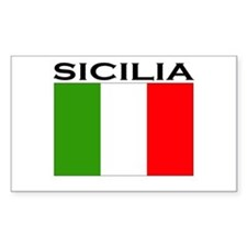Sicilia, Italia Rectangle Decal