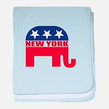 New York Republican Elephant baby blanket