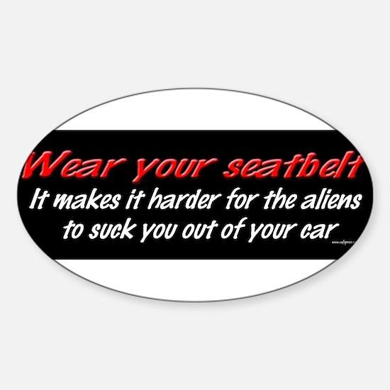 Wear your seatbelt.jpg Decal