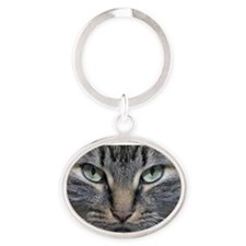 Main Coon Kitty Cat Oval Keychain