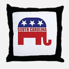 South Carolina Republican Elephant Throw Pillow