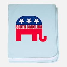 South Carolina Republican Elephant baby blanket