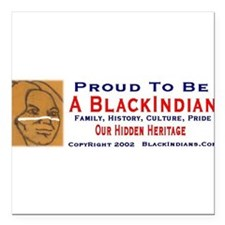 "Cute Black heritage Square Car Magnet 3"" x 3"""