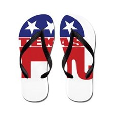 Texas Republican Elephant Flip Flops