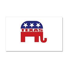Texas Republican Elephant Car Magnet 20 x 12