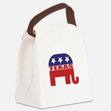 Texas Republican Elephant Canvas Lunch Bag