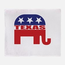 Texas Republican Elephant Throw Blanket