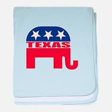 Texas Republican Elephant baby blanket
