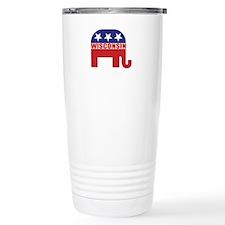 Wisconsin Republican Elephant Travel Mug
