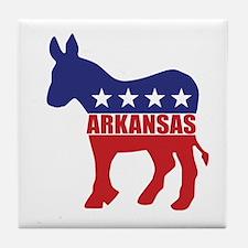 Arkansas Democrat Donkey Tile Coaster