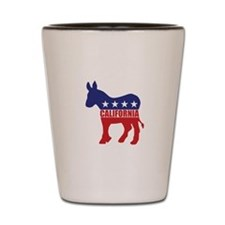 California Democrat Donkey Shot Glass