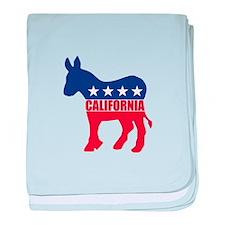California Democrat Donkey baby blanket