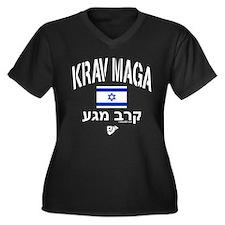 Krav Maga Is Women's Plus Size V-Neck Dark T-Shirt
