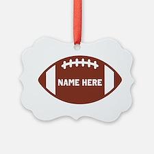 Customize a Football Ornament