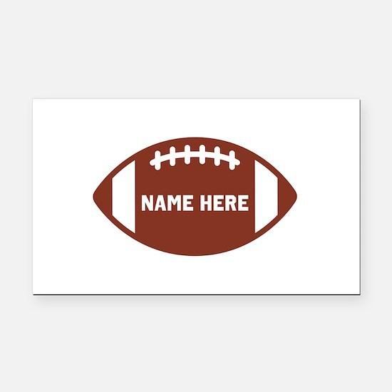 Customize a Football Rectangle Car Magnet