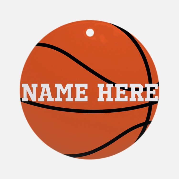 Customize a Basketball Ornament (Round)