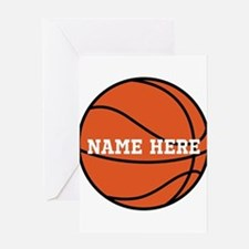 Customize a Basketball Greeting Cards