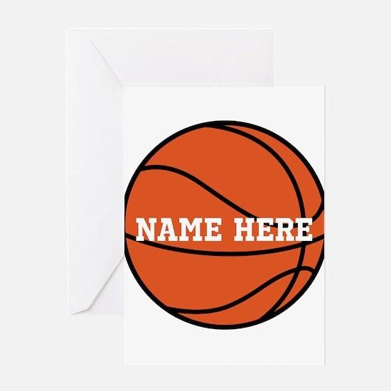 Customize a Basketball Greeting Cards