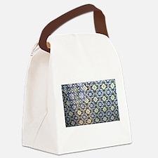Mexican Talavera Tile design Canvas Lunch Bag
