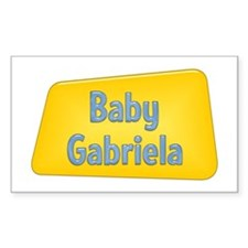 Baby Gabriela Rectangle Decal