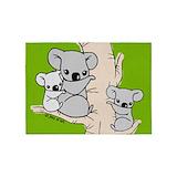 Koala bear Area Rugs