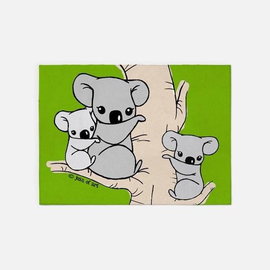 Koala Bears 5'x7'Area Rug