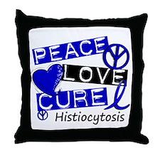 Histiocytosis Peace Love Cure 1 Throw Pillow