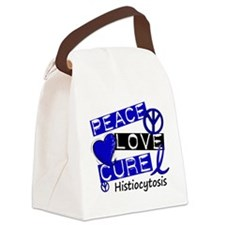 Histiocytosis Peace Love Cure 1 Canvas Lunch Bag