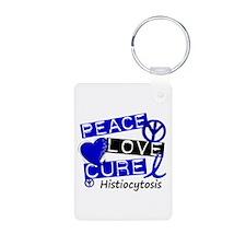 Histiocytosis Peace Love C Aluminum Photo Keychain