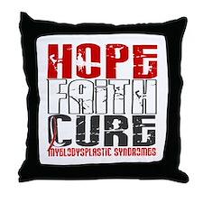 MDS Hope Faith Cure Throw Pillow