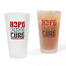 MDS Hope Faith Cure Drinking Glass