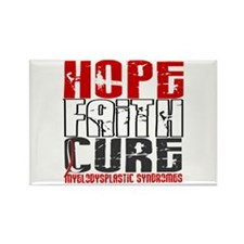 MDS Hope Faith Cure Rectangle Magnet