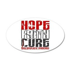 MDS Hope Faith Cure 20x12 Oval Wall Decal