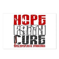MDS Hope Faith Cure Postcards (Package of 8)
