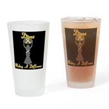 Divas Making a Difference Drinking Glass