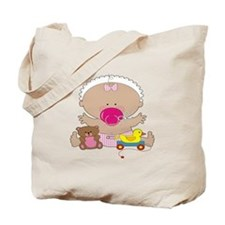 Baby, Duck, and Teddy Tote Bag